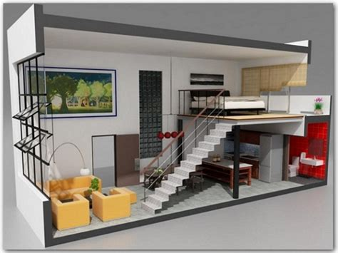 dise 241 o de plano de apartamento peque 241 o de un dormitorio decoracion departamentos modernos cebril com