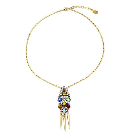 spike for jewelry ben amun spike pendant necklace in gold lyst