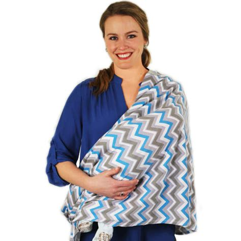 Itzy Ritzy Infinity Nursing Scraf Blue Skies Chevron nursing happens infinity scarf itzy ritzy