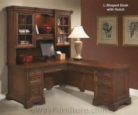 Home Office L Shaped Computer Desk Warm Cherry L Shaped Computer Desk With Return And Hutch Home Office Furniture Ebay