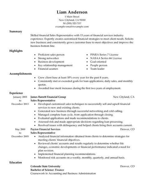sample resumes for customer service representative medical sales