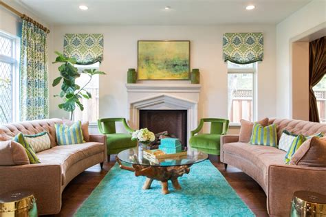 Aqua Green Living Room by How Interior Designers Can Increase Their Incomes