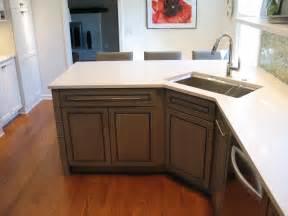 Carmel kitchen design and remodel beveled undermount sink angled