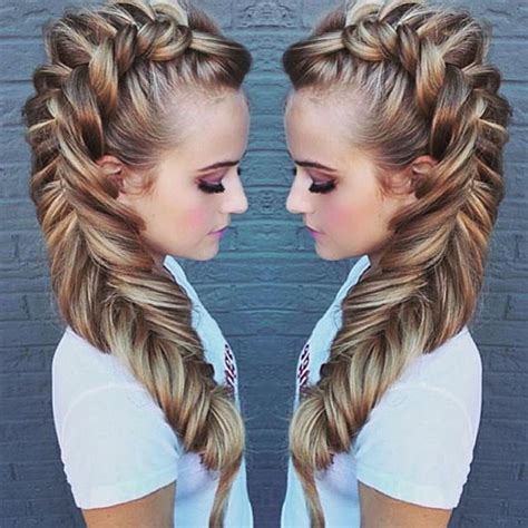 hair pieces to wear with fo hawk hairstyle 25 best ideas about unicorn braid on pinterest fishtail
