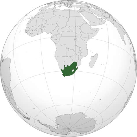 Sul Pasport Transparant location of the south africa in the world map