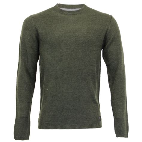 Sweater Brave mens jumper brave soul knitted sweater pullover top waffle crew neck winter new ebay
