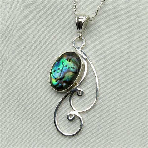 Abalone Necklace Paua Shell Pendant Paua Shell Jewelry