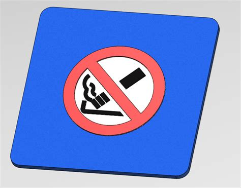 no smoking sign cad no smoking symbol dxf stl step iges solidworks