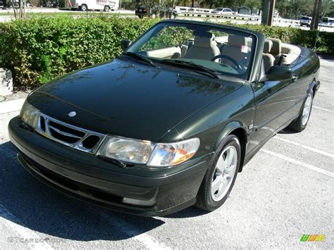 2003 graphite green metallic saab 9 3 se convertible