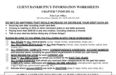 Bankruptcy Worksheet by Bankruptcy Worksheet Abitlikethis