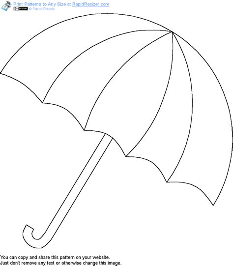 free printable umbrella template free umbrella pattern