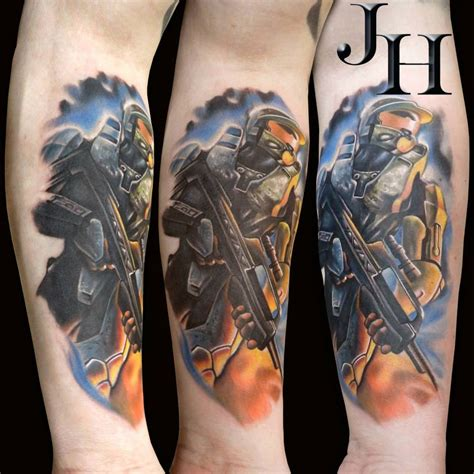 tattoos by halo my halo by d1stortionn on deviantart