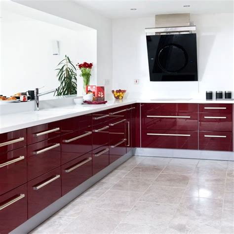 Burgundy Kitchen by Kitchen Hatch Modern Burgundy Kitchen Tour Housetohome