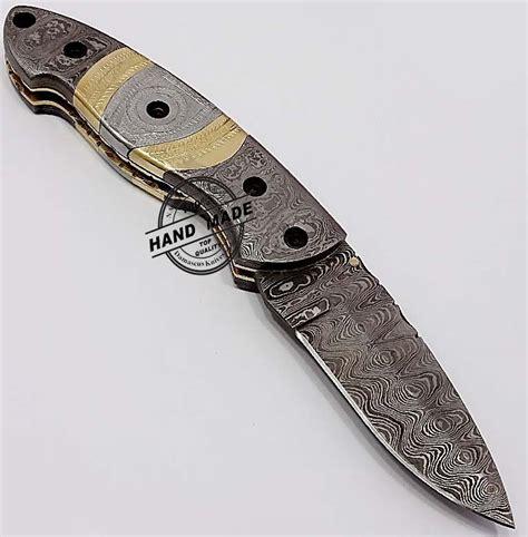 best pocket knife steel custom handmade damascus steel best damascus pocket knife