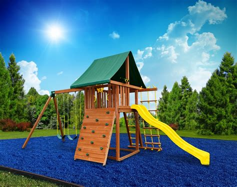 mat for under swing set best swing sets blue rubber mulch bags eastern jungle gym