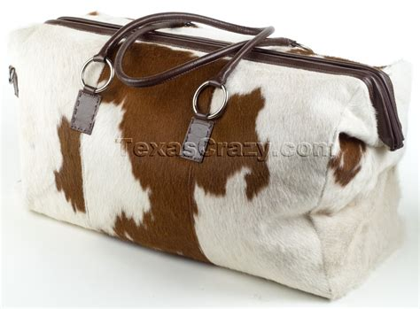 Cow Skin Bag Buy Cowhide Leather Duffel Bag Carryon Luggage