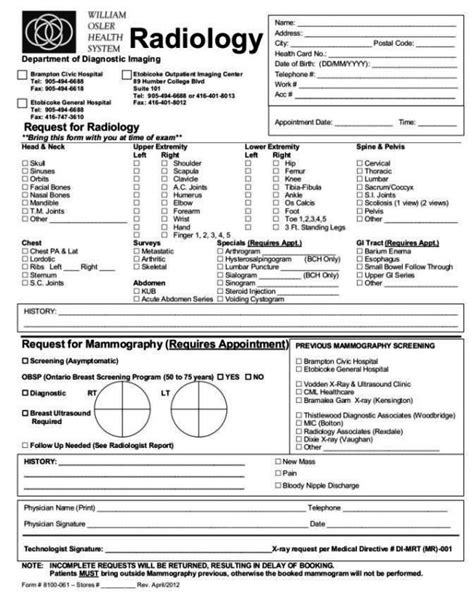 chiropractic x report template x request form template chiropractic x report