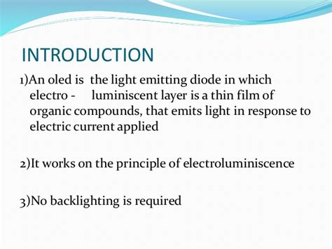 organic light emitting diodes on solution processed graphene transparent electrodes introduction to organic light emitting diode 28 images