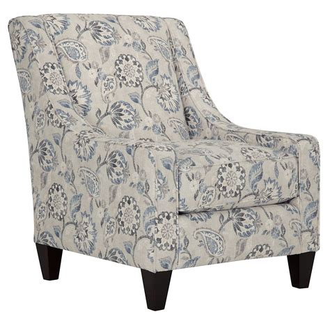 Floral Accent Chair City Furniture Sylvie Blue Floral Accent Chair
