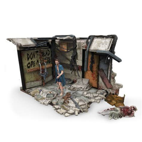 the walking dead gifts mcfarlane the walking dead atlanta hospital doors