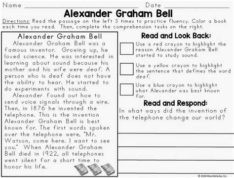 alexander graham bell biography worksheet 25 best ideas about alexander graham bell biography on
