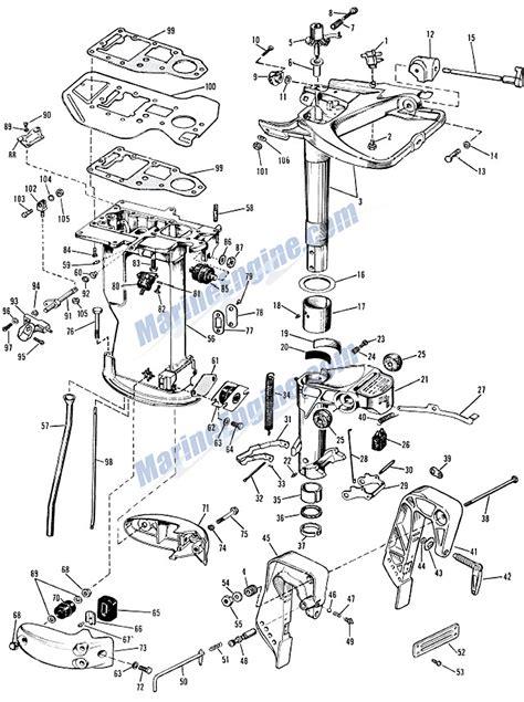 evinrude lower unit diagram evinrude lower unit parts for 1964 28hp 28402m