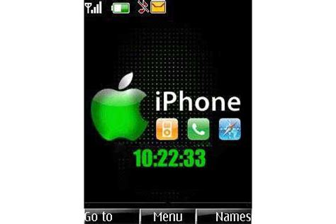 themes iphone s40 iphone theme for symbian s40 240x320 nokia phones