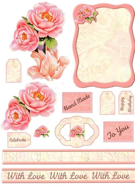Free 3d Decoupage Sheets To Print - 216 best 3d flowers images on 3d cards
