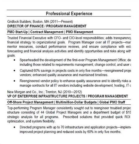 Operations Director Resume Sle Pdf Director Resume Pdf 28 Images 10 Program Manager Resume Simple Writing Resume Sle Writing