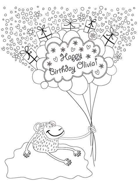 custom happy birthday coloring pages personalized happy birthday coloring book h r wallace