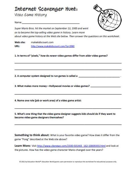 Scavenger Hunt Worksheet by Math Scavenger Hunt Worksheet Ischool For The Futureeasy