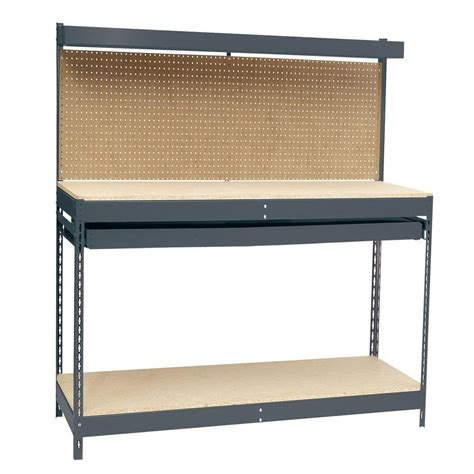 storage work bench edsal 48 in w x 24 in d workbench with storage shop