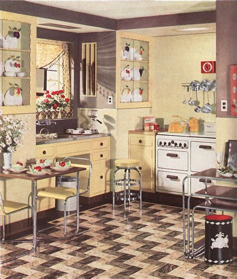 antique looking home decor retro kitchen design sets and ideas