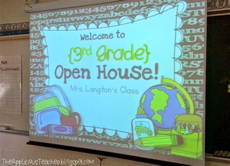 the applicious teacher open house with a few freebies