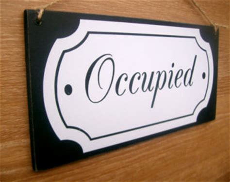 bathroom occupied signs etsy your place to buy and sell all things handmade