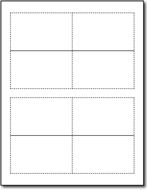 2x2 blank card template on 8 5 and 11 inch portrait 65lb white folding business cards desktopsupplies