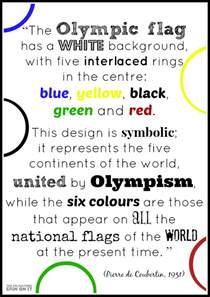 what does the color stand for olympic rings activities the educators spin on it