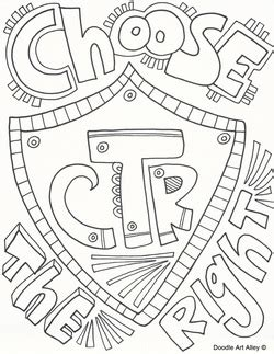 lds coloring pages ctr shield choose the right coloring page murderthestout