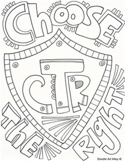 Choose The Right Coloring Page primary religious doodles