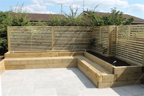 Sleeper Seating by Sheffield Landscaper Gallery Patios Decking Ponds Fencing