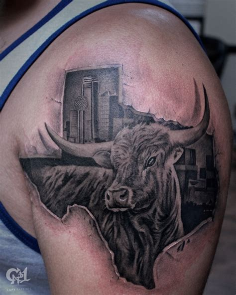 tattoo shops denton tx longhorn by capone tattoonow