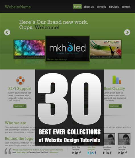 best website tutorial videos 30 best ever collections of website design tutorials