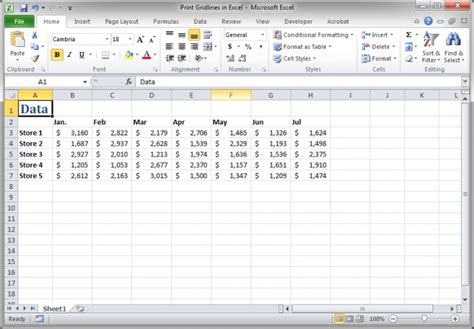 print layout view excel print gridlines in excel teachexcel com