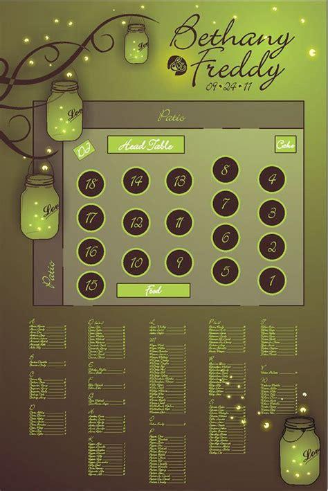 themes jar file download mason jar firefly flies themed wedding seating chart