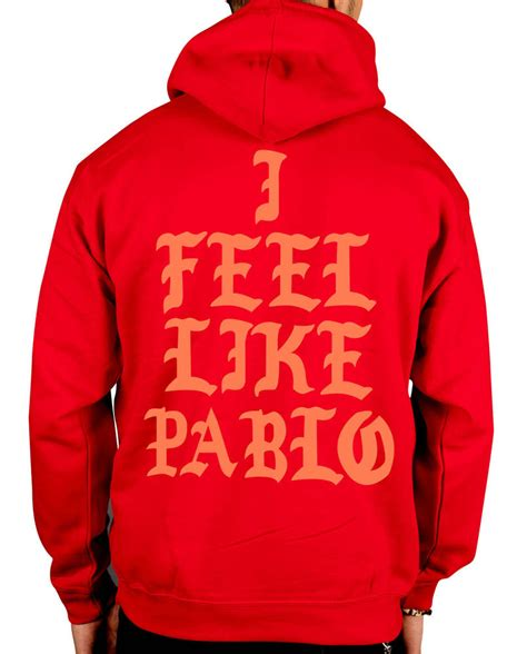 Hoodie Papblo Pablo Pablo yeezus i feel like pablo new hooded jumper kanye west yeezy tour hoodie clothing ebay