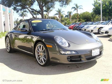 slate grey porsche 2007 slate grey metallic porsche 911 4s cabriolet