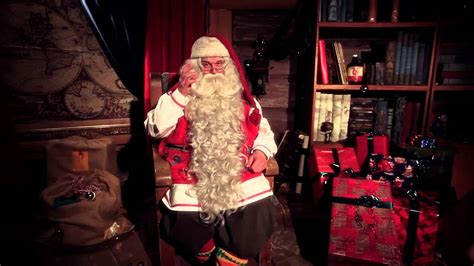 santa claus ikihirsi log houses video greeting lapland finland merry christmas log home