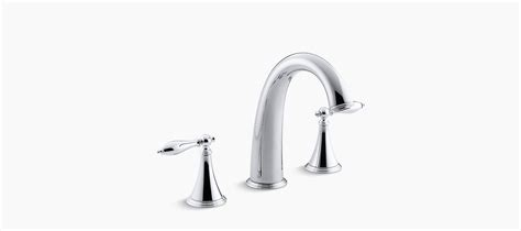 Kohler Finial Deck Mount Bath Faucet K 8673t 4m Cp standard plumbing supply product kohler finial 174 traditional k t314 4m sn deck mount bath