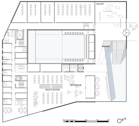 cultural center floor plan plassen cultural centre by 3xn