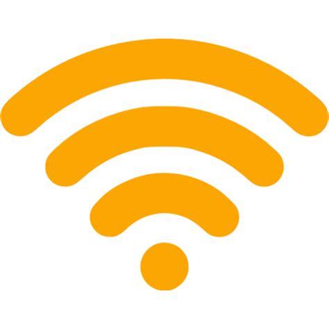 Wifi Orange orange wireless icon free orange wireless icons